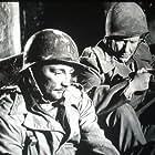 Robert Mitchum and Burgess Meredith in Story of G.I. Joe (1945)