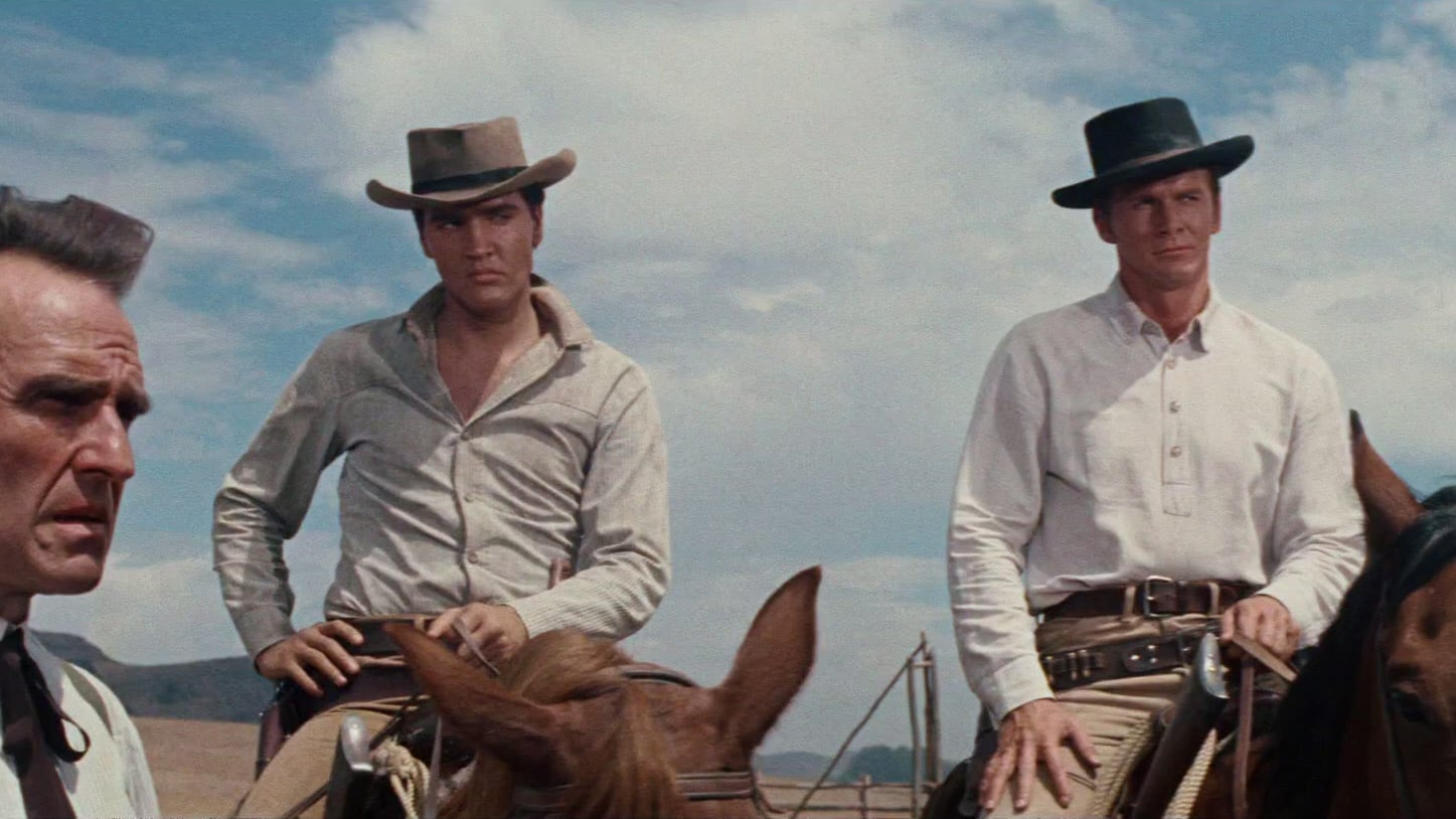 Elvis Presley and Steve Forrest in Flaming Star (1960)