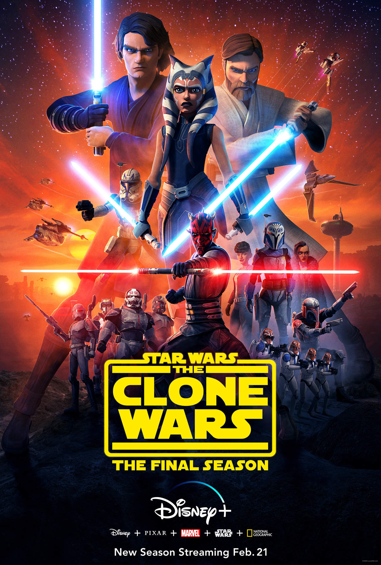 Image result for the clone wars saga poster
