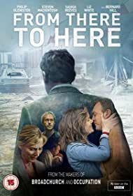 Philip Glenister, Steven Mackintosh, Saskia Reeves, and Liz White in From There to Here (2014)