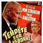 Erich von Stroheim and Vera Ralston in Storm Over Lisbon (1944)