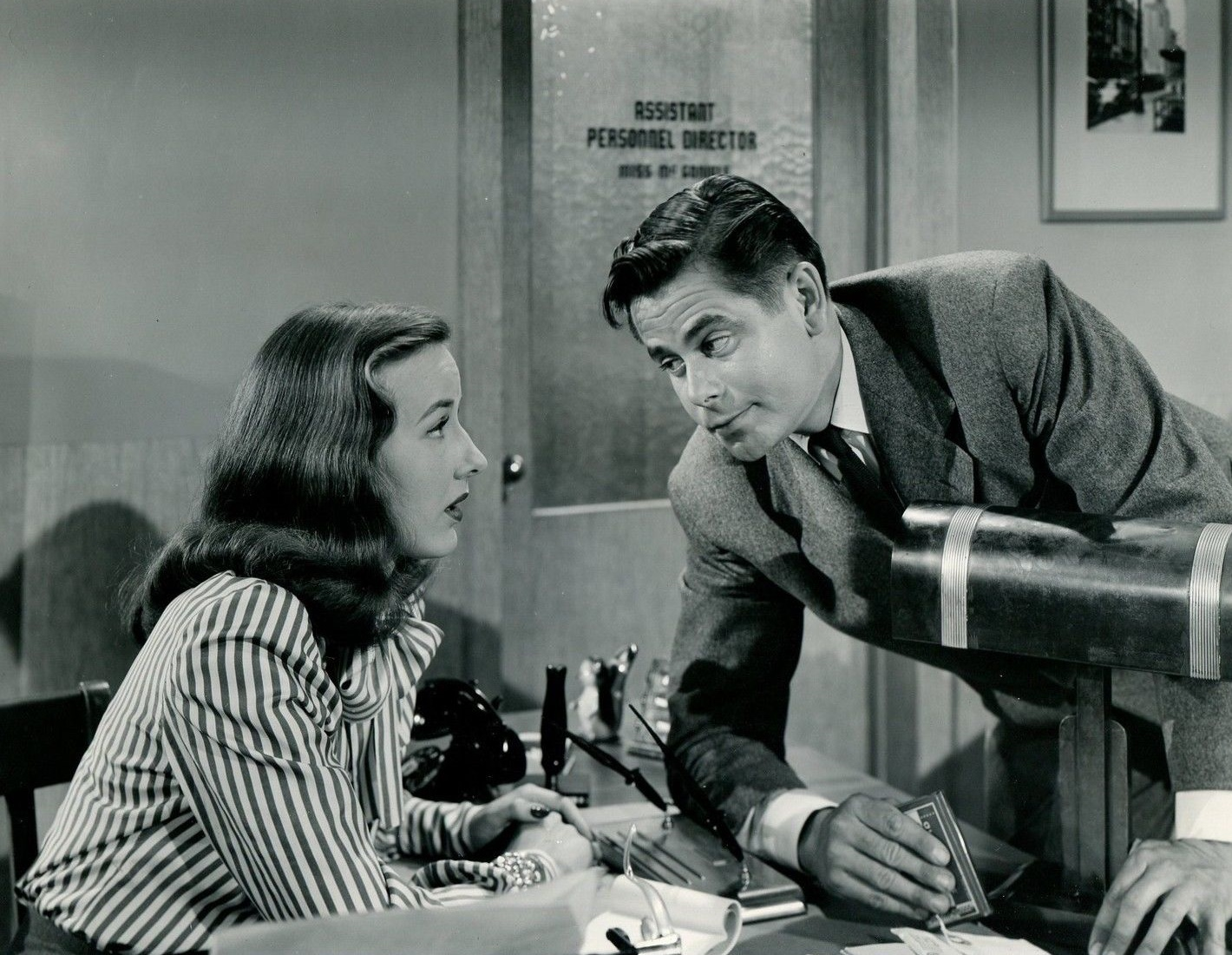 Glenn Ford and Virginia Hunter in The Mating of Millie (1948)