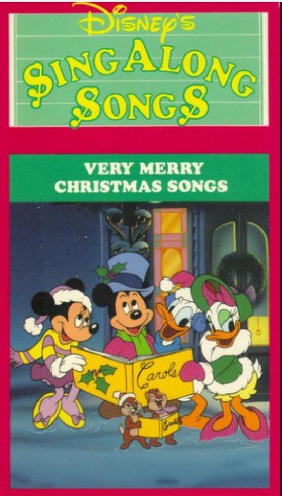 Disney Sing Along Songs Very Merry Christmas Songs.Disney Sing Along Songs Very Merry Christmas Songs 1988
