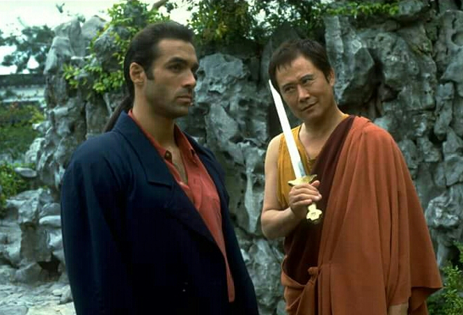 Adrian Paul and Soon-Tek Oh in Highlander (1992)