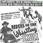 Ray Corrigan, Robert Livingston, Mary Russell, and Max Terhune in Riders of the Whistling Skull (1937)