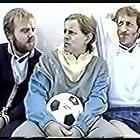 Sigurður Sigurjónsson, Karl Ágúst Úlfsson, and Randver Þorláksson in Spaugstofan (1986)