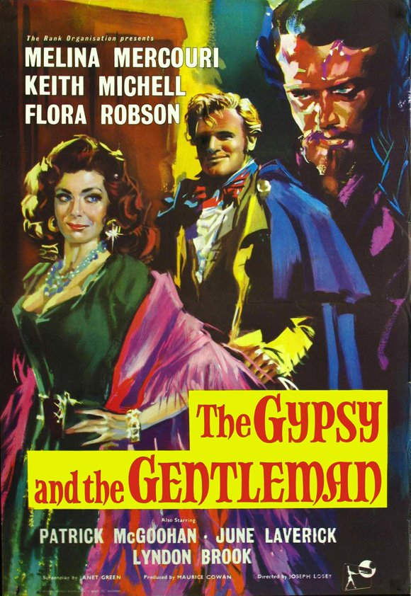 Patrick McGoohan, Melina Mercouri, and Keith Michell in The Gypsy and the Gentleman (1958)