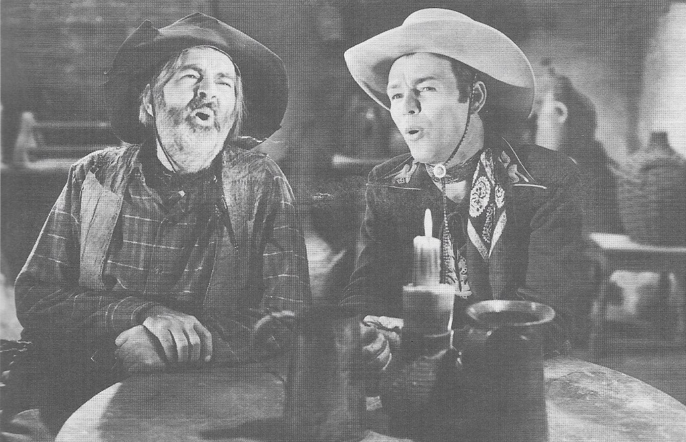Roy Rogers and George 'Gabby' Hayes in In Old Caliente (1939)