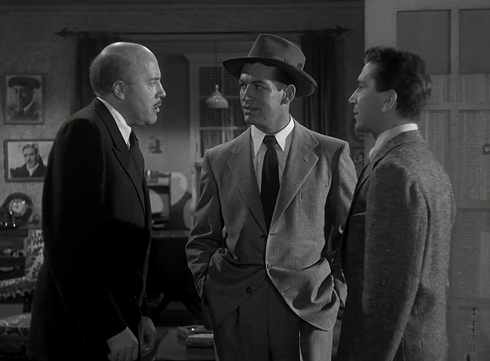 Richard Conte, Fred Clark, and Richard Egan in Hollywood Story (1951)