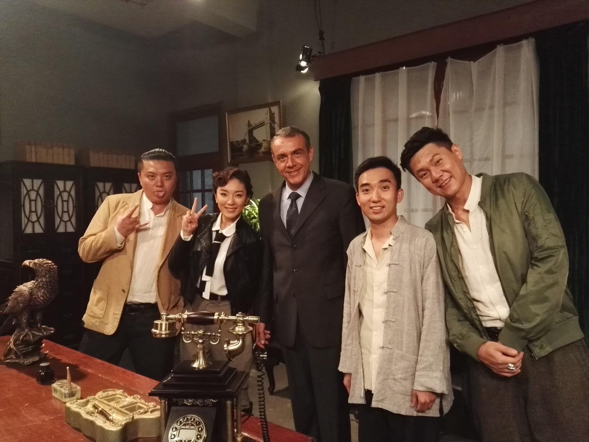 Vincent Matile, Beibei Yu, Jiang Haoyan, Liu Xiaohao, and Feng Yang in Tianjin Mysteries Perpetrator (2017)