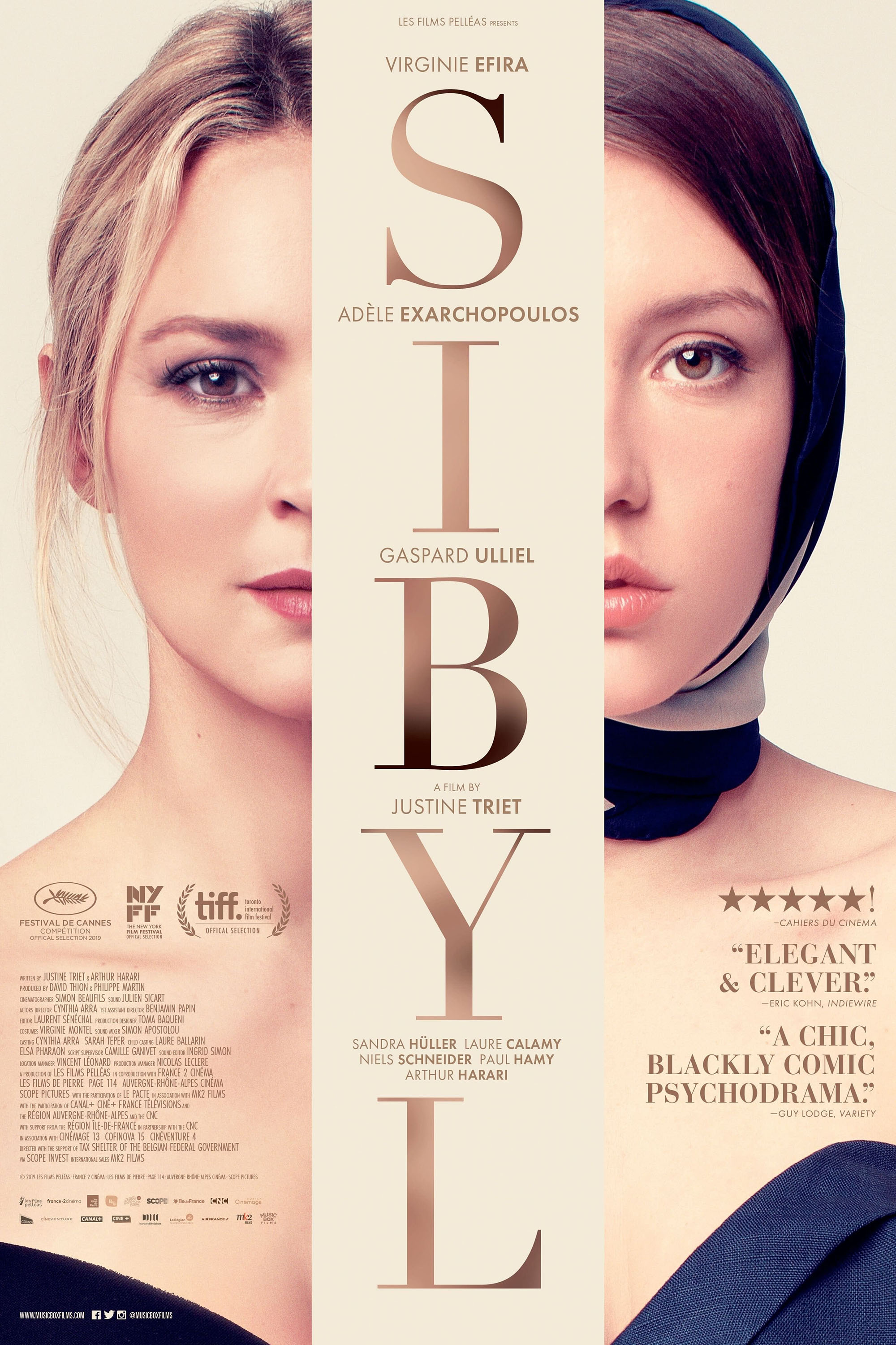 """Adele Exarchopoulos Virginie Efira Love Movie 24/""""x30/"""" Poster 001 Sibyl"""