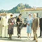 Audrey Hepburn, James Mason, Ben Gazzara, Omar Sharif, Romy Schneider, Irene Papas, Michelle Phillips, Maurice Ronet, and Beatrice Straight in Bloodline (1979)