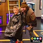 Heath McGough on the set of Game Shakers
