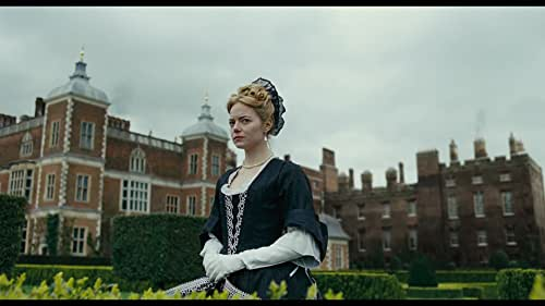 In early 18th century England, a troubled Queen Anne (Olivia Colman) occupies the throne and her close friend Lady Sarah (Rachel Weisz) governs the country in her stead. When a new servant Abigail (Emma Stone) arrives, her charm endears her to Sarah and the Queen.
