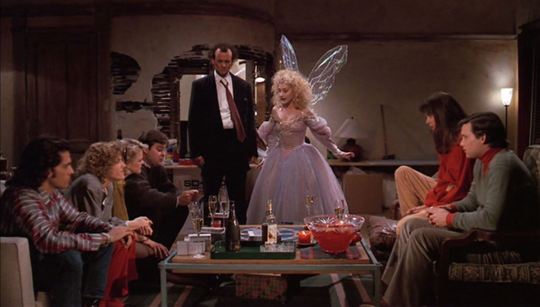 Bill Murray, Carol Kane, Wendie Malick, Mitch Glazer, Susan Isaacs, Lauri Kempson, Joel Murray, and John Murray in Scrooged (1988)