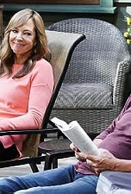 William Fichtner and Allison Janney in Mom (2013)