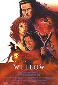 Val Kilmer, Joanne Whalley, Billy Barty, Warwick Davis, Kevin Pollak, Kate Greenfield, Ruth Greenfield, Jean Marsh, Rick Overton, and Pat Roach in Willow (1988)