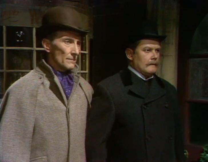 Peter Cushing and Nigel Stock in Sherlock Holmes (1964)