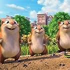Gabriel Iglesias, Kari Wahlgren, and Sebastian Maniscalco in The Nut Job 2: Nutty by Nature (2017)