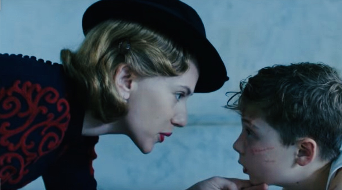 Scarlett Johansson and Roman Griffin Davis in Jojo Rabbit (2019)