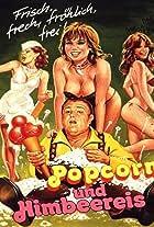 Popcorn und Himbeereis
