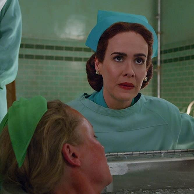 Sarah Paulson and Annie Starke in Ratched (2020)