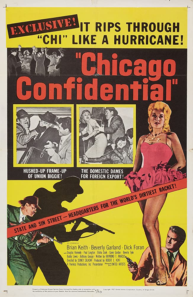 Brian Keith, Linda Brent, and Beverly Garland in Chicago Confidential (1957)