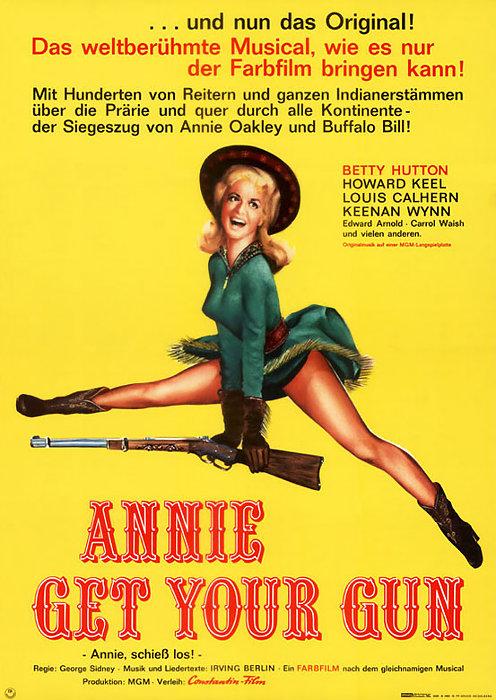 Irving Berlin, Betty Hutton, Edward Arnold, Louis Calhern, Howard Keel, J. Carrol Naish, George Sidney, and Keenan Wynn in Annie Get Your Gun (1950)