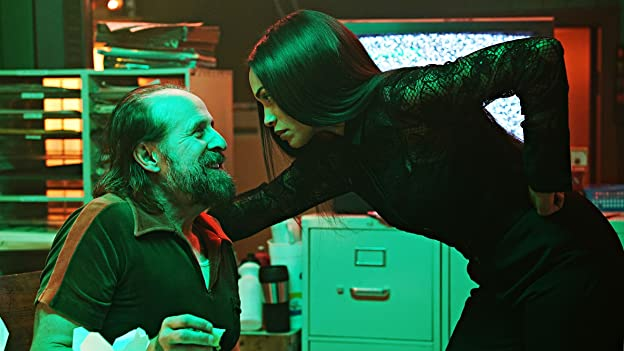Peter Stormare and Rosario Dawson in Briarpatch: Behind God's Back (2020)