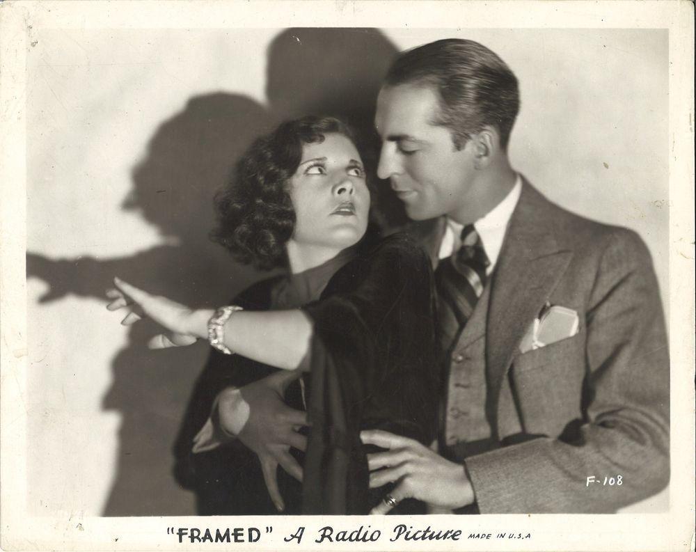 Evelyn Brent and Ralf Harolde in Framed (1930)