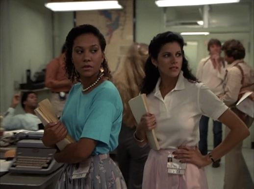Olivia Brown and Saundra Santiago in Miami Vice (1984)