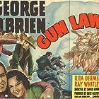 Ward Bond, George O'Brien, and Rita Oehmen in Gun Law (1938)
