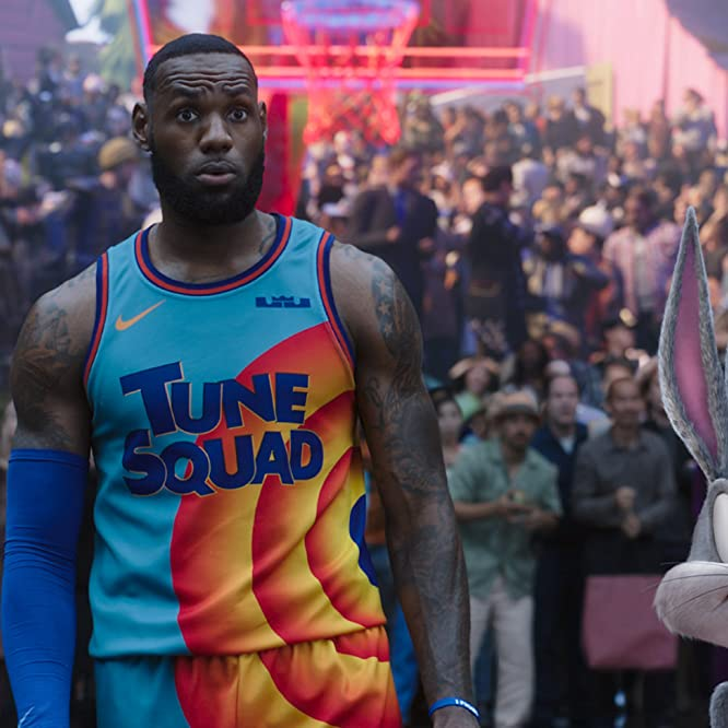 Jeff Bergman and LeBron James in Space Jam: A New Legacy (2021)