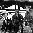 John Wayne, James Arness, and Ward Bond in Hondo (1953)