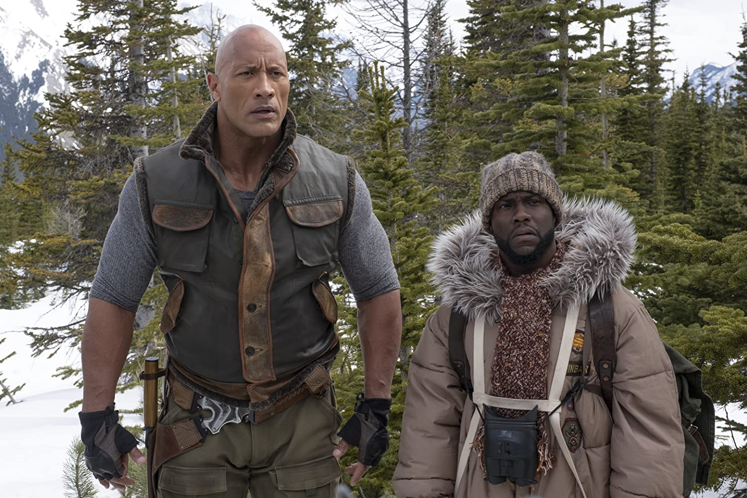 Kevin Hart and Dwayne Johnson in Jumanji: The Next Level (2019)