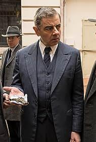 Rowan Atkinson, Shaun Dingwall, Kevin McNally, and Stephen Wight in Maigret (2016)