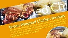 Pollo envuelto en tocino con papas con mantequilla y miel