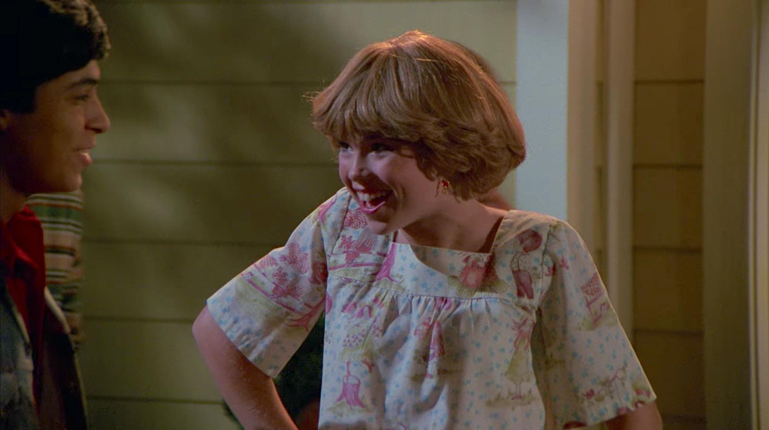 When Donna's little sister, Tina Pinciotti, vanished mysteriously in That 70s Show.