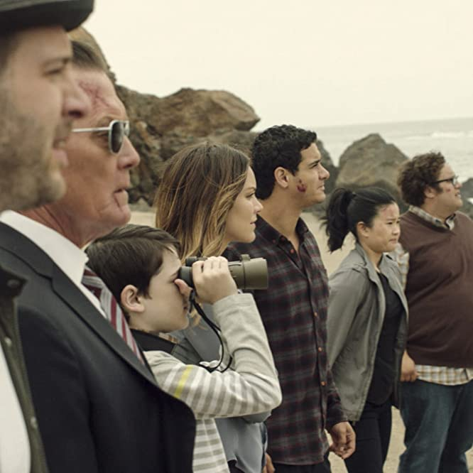 Robert Patrick, Eddie Kaye Thomas, Elyes Gabel, Katharine McPhee, Jadyn Wong, Riley B. Smith, and Ari Stidham in Scorpion (2014)