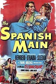 Maureen O'Hara and Paul Henreid in The Spanish Main (1945)