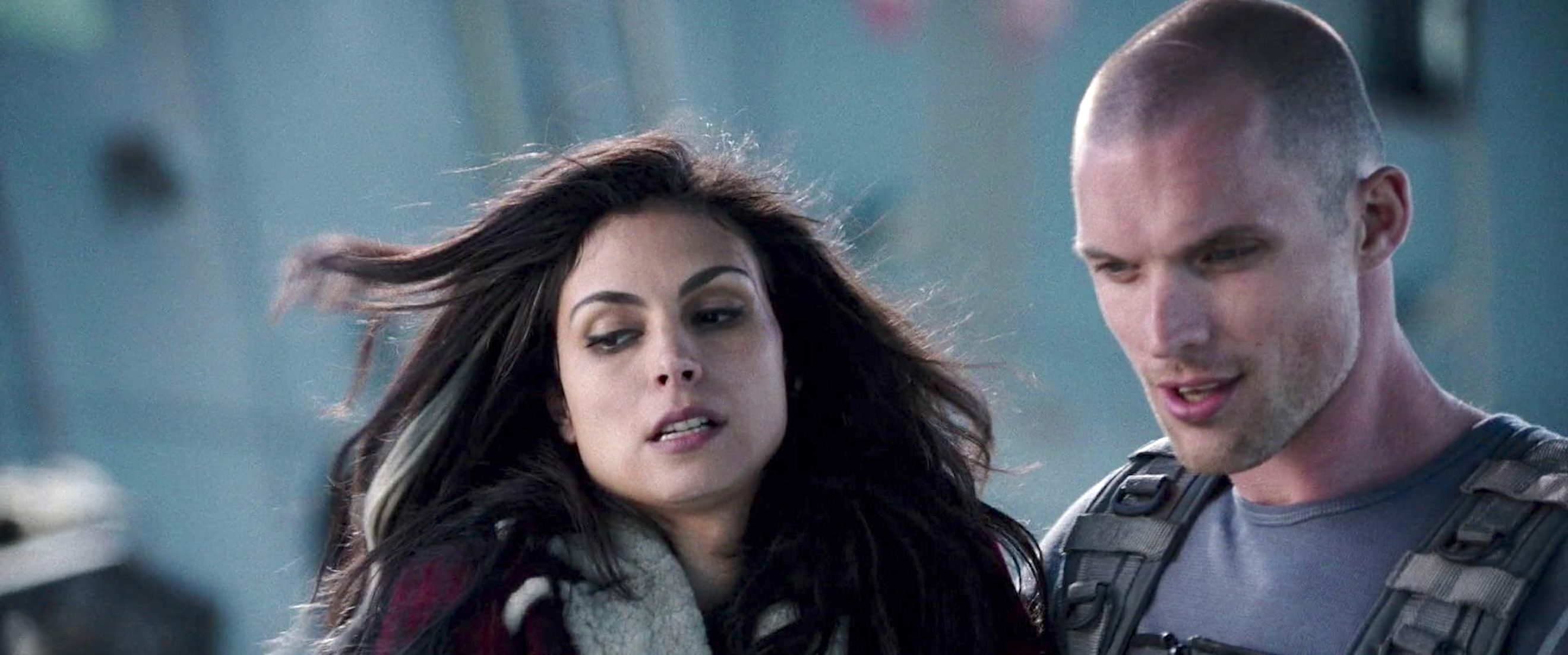 Morena Baccarin and Ed Skrein in Deadpool (2016)