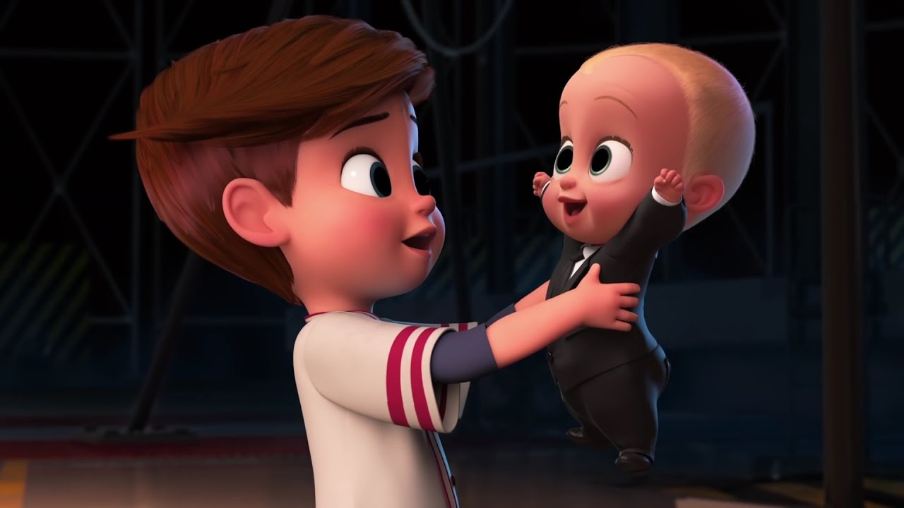 Alec Baldwin and Miles Bakshi in The Boss Baby (2017)