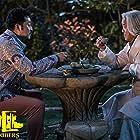 Eric Tsang and Yi Sha in Yang Guang Bu Shi Jie Fei (2021)