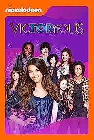 Jake Farrow, Daniella Monet, Victoria Justice, Leon Thomas III, Avan Jogia, Elizabeth Gillies, Matt Bennett, and Ariana Grande in Victorious (2010)