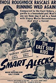 Stanley Clements, Gabriel Dell, David Gorcey, Leo Gorcey, Huntz Hall, Ernest Morrison, Bobby Jordan, Roger Pryor, Maxie Rosenbloom, Bobby Stone, and Gale Storm in Smart Alecks (1942)