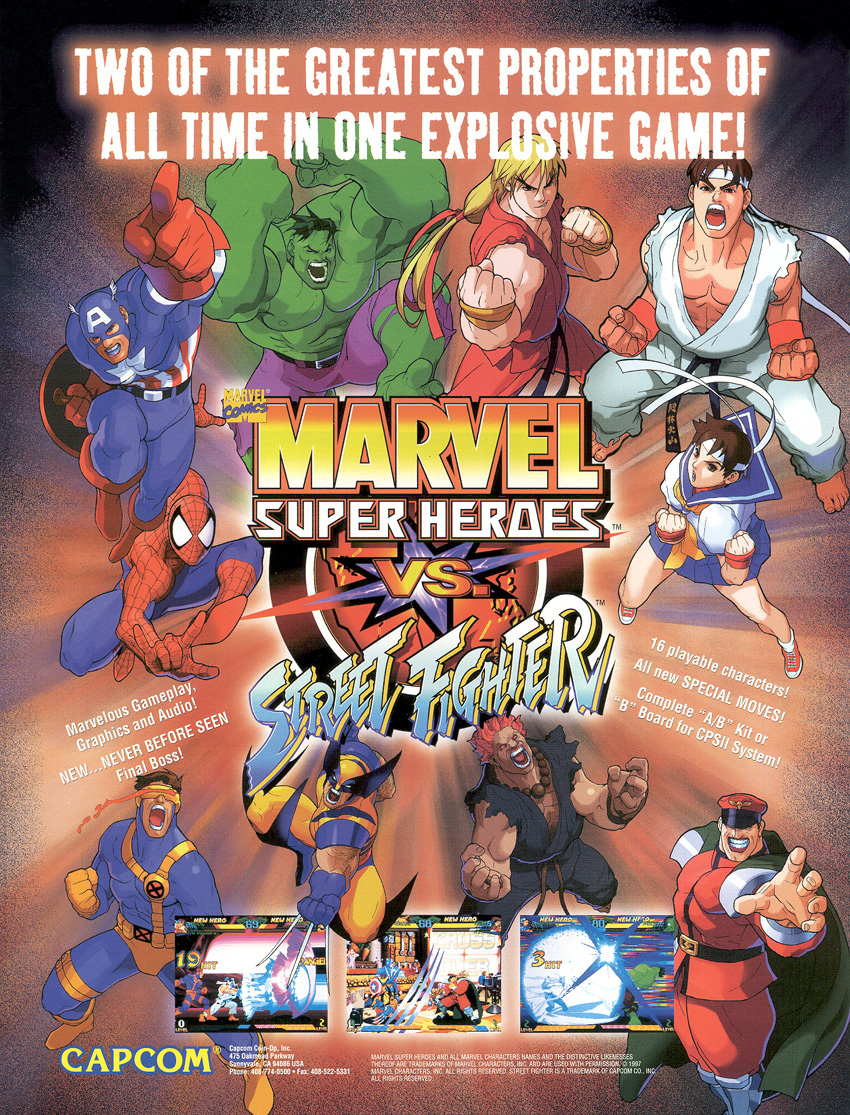 Marvel Super Heroes vs  Street Fighter (Video Game 1997) - IMDb