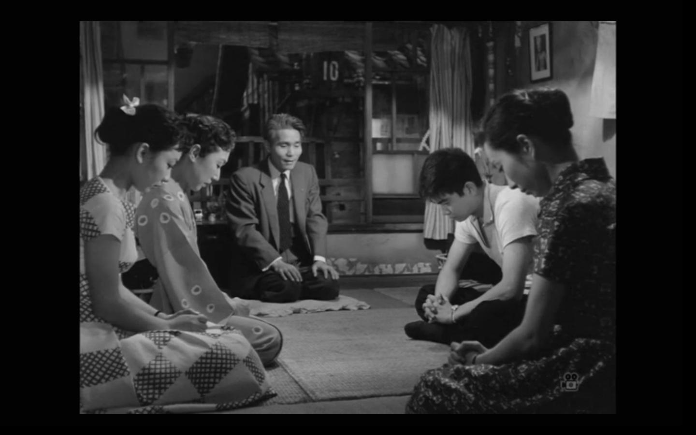 Michiyo Aratama, Izumi Ashikawa, Yûjirô Ishihara, Jûkichi Uno, and Hisako Yamane in Ubaguruma (1956)