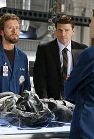David Boreanaz, Emily Deschanel, and T.J. Thyne in Bones (2005)