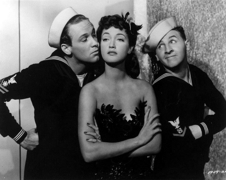 William Holden, Eddie Bracken, and Dorothy Lamour in The Fleet's In (1942)