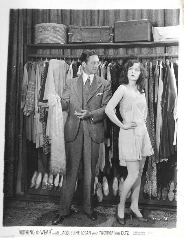 Jacqueline Logan and Theodore von Eltz in Nothing to Wear (1928)